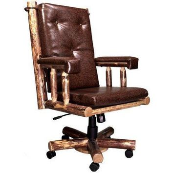 Montana Woodworks - Glacier Country Collection Upholstered Office Chair