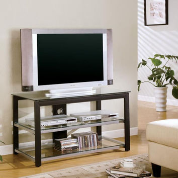 Coaster Fine Furniture Tv Console Black/ Silver 700612