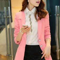 Relaxed Unique Collar Blazer - OASAP.com