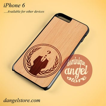 Anonymous Wood Phone case for iPhone 6 and another iPhone devices