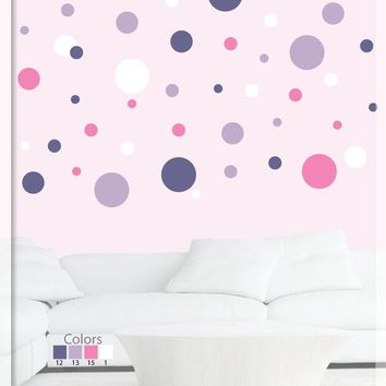 Polka dot stickers - Polka Dots - Polka dot wall decals - Wall decals nursery