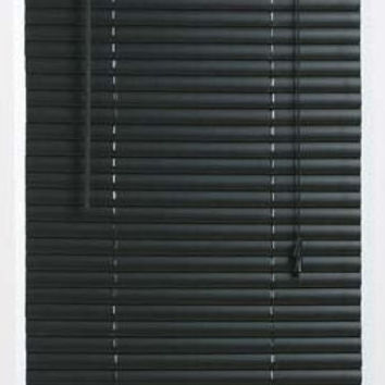 "6 Pack of Black Vinyl 1"" Mini Blinds - In Various Sizes"