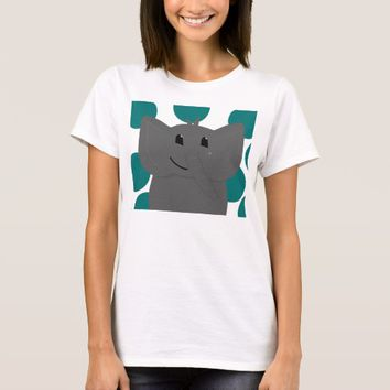 Cute Little Elephant with Polka Dots T-Shirt