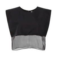 Francis Organza-Trimmed Cropped Top by Karla Špetic - Moda Operandi