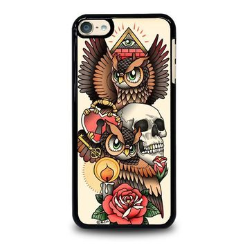 OWL STEAMPUNK ILLUMINATI TATTOO iPod Touch 6 Case Cover