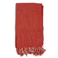 Red Stiched Pattern 100% Cotton Throw 69x29 In - Walmart.com