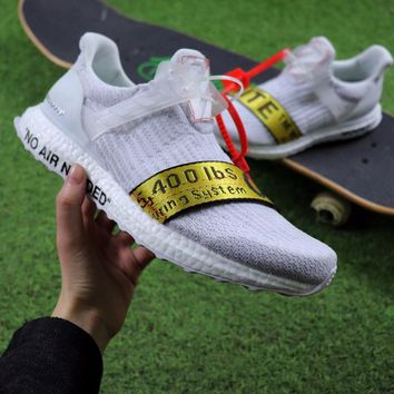 Sale OFF WHITE x Adidas Custom Ultra Boost 2.0 OW Sport Running b5fbe5929d00