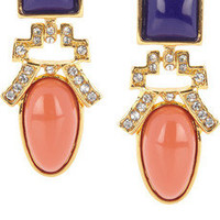 Kenneth Jay Lane Gold-plated, crystal and resin clip earrings – 60% at THE OUTNET.COM