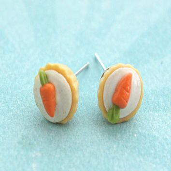 carrot cupcake stud earrings