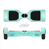 The Bright Teal WaterColor Panel Full-Body Skin Set for the Smart Drifting SuperCharged iiRov HoverBoard