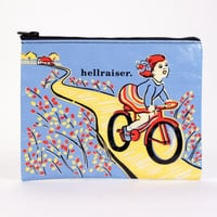 Hellraiser Zipper Pouch in Blue Bike