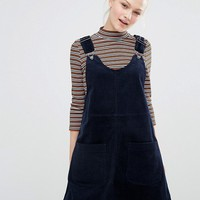 Monki Cord Pinny Dress at asos.com