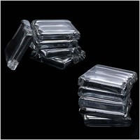 Clear Glass Jewelry Pendant Tiles Square Small 7/8 Inch (10 Tiles)
