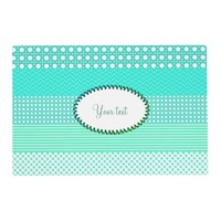 Pastel Turquoise Pattern Mix Placemat