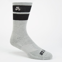 Nike Sb Elite Skate Mens Dri-Fit Crew Socks Dark Grey One Size For Men 24439911101