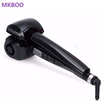 MKBOO LCD Screen Hair Curler Heating Hair Styling Tools Automatic Curls Curling wand Hair curling iron EU US Plug