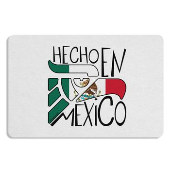 Hecho en Mexico Design - Mexican Flag Placemat by TooLoud