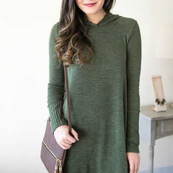 Choose Happiness Hooded Sweater Dress
