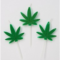 Wake Bake Pot Leaf Candle Set - Spencer's
