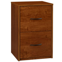 2-Drawer File Cabinet in Bank Alder Home Office Furniture Medium Brown Finish