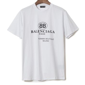 Balenciaga Woman Men Fashion Casual Sports Shirt Top Tee 6e9d3242f526