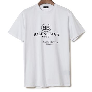 Balenciaga Woman Men Fashion Casual Sports Shirt Top Tee cf39a80d45