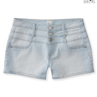 Aeropostale  Tokyo Darling High-Waisted Light Wash Denim Shorty Shorts