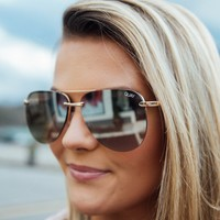 The Playa Sunnies, Gold/Brown | Quay Australia