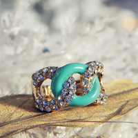 Knotted Ring in Mint