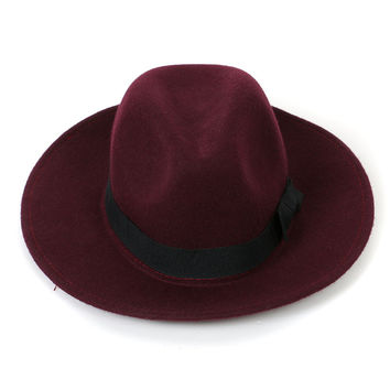 Bordeaux Contrast Band Fedora Hat