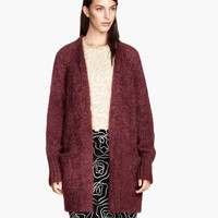 H&M Wide-cut Mohair-blend Cardigan $79.95