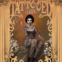 The Amazing Tattooed Lady Canvas Print by Rudy Faber