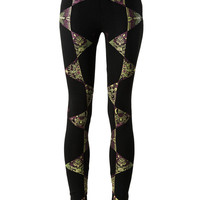 Elements of Nature Leggings- Geometric print leggings-Printed Leggings-Yoga leggings-pentangles-Trippy-Rave-Visionary-Yoga pants-Tights