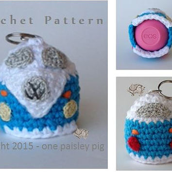 Volkswagen Van - EOS Lip Balm Holder - Instant Download CROCHET PATTERN