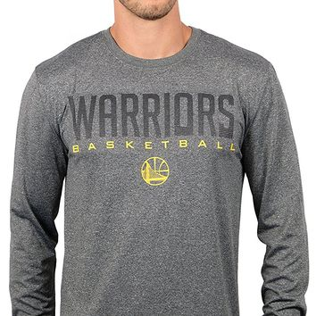 UNK NBA Men's T-Shirt Performance Long Sleeve Pullover Tee Shirt, Team Logo Gray