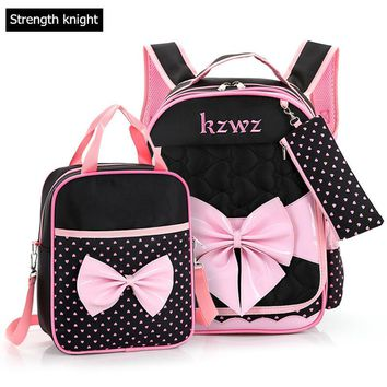 Lovely Bow Mochilas Schoolbags Children School Bags For Girls Backpack Kid Bag Girl School book Bag Gift Bags