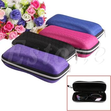 ac NOOW2 Colorful Cover Sunglasses Case For Women Glasses Box With Lanyard Zipper Eyeglass Cases For Men 4 Colors A19385