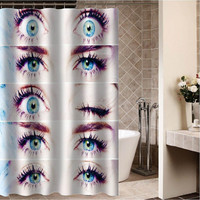 "miley cyrus eyes Custom Shower curtain,Sizes available size 36""w x 72""h 48""w x 72""h 60""w x 72""h 66""w x 72""h"