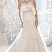 Azzora Crystal Beaded A Line Wedding Dress