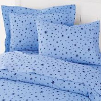 Kids' Bedding: Blue Stars Duvet Cover in Duvet Covers | The Land of Nod