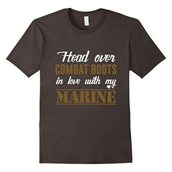 Head Over Combat Boots In Love With My Marine T Shirt