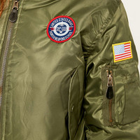 Urban Renewal Vintage Surplus MA1 Green Bomber Jacket - Urban Outfitters