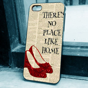 GettingNo Case custom Dictionary Style, wizard of oz, there is no place like home