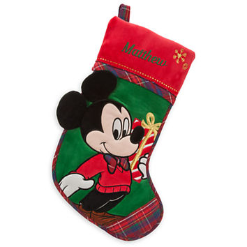 Disney Mickey Mouse Holiday Stocking - Personalizable | Disney Store