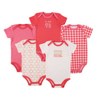 Luvable Friends Hanging 5-Pack Bodysuit | Affordable Infant Clothing
