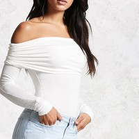 Foldover Off-the-Shoulder Top