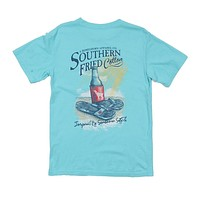 Surf, Sand & Fun Tee in Robin's Egg by Southern Fried Cotton