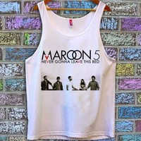 maroon 5 funny tanktop for unisex adult
