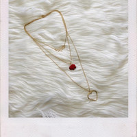 Layered Elephant Necklace- Red