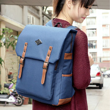 Comfort On Sale Back To School Hot Deal Casual Stylish College Korean Canvas Pc Backpack [8384616007]